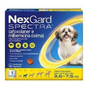 Antipulgas e Carrapatos Nex Gard Spectra para Cães de 3,6 a 7,5kg